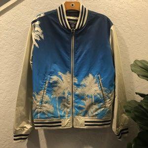 American Eagle Mens Palm Tree Bomber Jacket – S